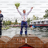 Podium of the men's extreme kayak slalom race at the ICF Canoe Slalom World Championships in Pau, France (L_R): Boris Neveu (FRA), Vavrinec Hradilek (CZE), Mike Dawson (NZL).