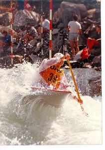 1984 Bourg St Maurice  Pete Bell  C1   Pyranha VORTEX
