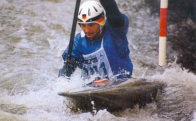 1985 Augsburg  Worlds   Peter Micheler  K1M 2nd