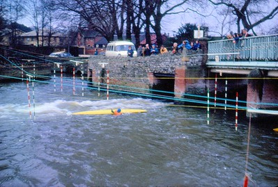 Duckmill  March 1973   Pete Bell  (Swims on first slalom run)