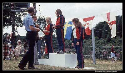 Grandtully 1981 Commonwealth Games Jane Roderick, Sue Garriock, Sue Small
