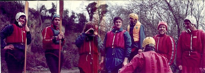 Swansea Univ Slalom Team  Llandysul 1981