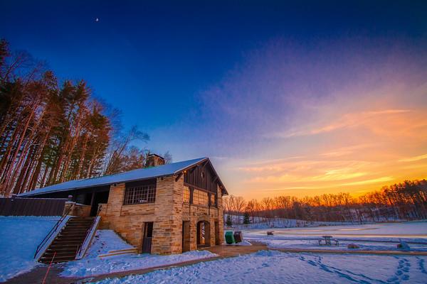 Kendal Lake Winter Sunset