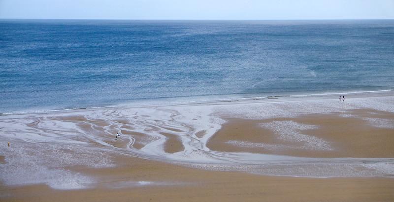 Toto je Skeltonský potok ako vtekajúci do mora.