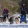 Dusty Klaven, Josh Hudachek and Julie Schmelzer along the trail near Bear Head Lake State Park