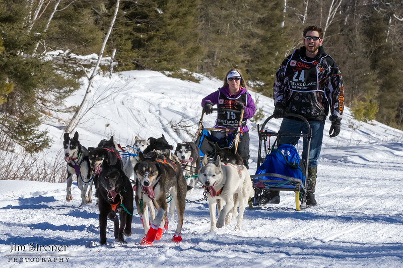 Dusty Klaven and Josh Hudachek along the trail near Bear Head Lake State Park