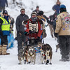 Amanda Vogel at start of 2014 John Beargrease Marathon race