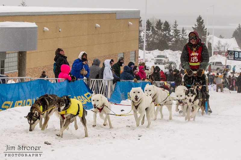Andrew Heskin at start of 2014 John Beargrease Mid-Distance race