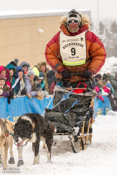Billy Snodgrass at start of 2014 John Beargrease Marathon race