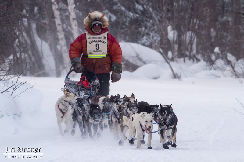 Billy Snodgrass near Laine Road crossing during the 2014 John Beargrease Marathon race