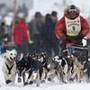 Billy Snodgrass at start of 2014 John Beargrease Marathon race