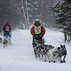 Billy Snodgrass and Ross Fraboni near Laine Road crossing during the 2014 John Beargrease Marathon race