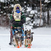 Colleen Wallin on Devil Track lake during the 2014 John Beargrease Marathon race