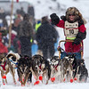 Colleen Wallin at start of 2014 John Beargrease Marathon race