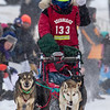 Elizabeth Nelson at start of 2014 John Beargrease Mid-Distance race
