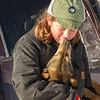 Elizabeth Nelson at 2014 John Beargrease Sled dog race vet check