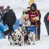 Emily Meyer at start of 2014 John Beargrease Mid-Distance race