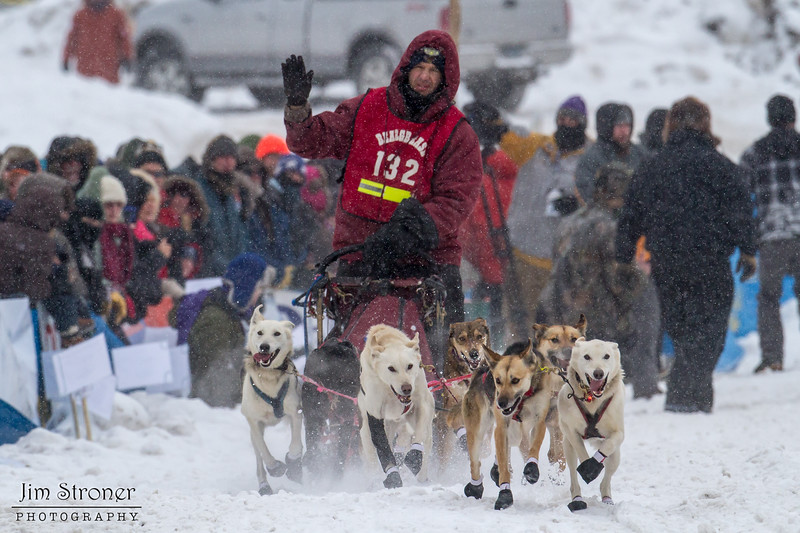 Frank Holmberg at start of 2014 John Beargrease Mid-Distance race