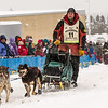 Keith Aili at start of 2014 John Beargrease Marathon race