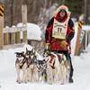 Keith Aili near Fox Farm road crossing during the 2014 John Beargrease Marathon race