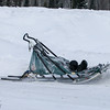 Keith Aili's sled at the Devil Track lake checkpoint during the 2014 John Beargrease Marathon race