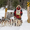 Keith Aili near Fox Farm road crossing during the 2014 John Beargrease Marathon race