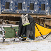 Peter McClelland's sled at Hwy 2 checkpoint during the 2014 John Beargrease Marathon race