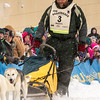 Peter McClelland at start of 2014 John Beargrease Marathon race