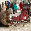 Frank Holmberg preping his sled for the 2014 John Beargrease Mid-Distance race