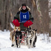 Bob Johnson on the trail near Windy Lake during the Mid-Minnesota 150 sled dog race
