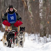 Bob Johnson on the trail near Windy Lake during the Mid-Minnesota 150 sled dog race