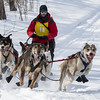 Jay Malchow on the trail near Outing during the Mid-Minnesota 150 sled dog race