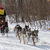 Kelly Sipper on the trail near Windy Lake during the Mid-Minnesota 150 sled dog race