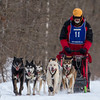 Linus Meyer on the trail near Remer during the Mid-Minnesota 150 sled dog race