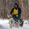 Neal Seeger on the trail near Windy Lake during the Mid-Minnesota 150 sled dog race
