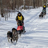 Nick Turman and Patty Salls on the trail near Outing during the Mid-Minnesota 150 sled dog race