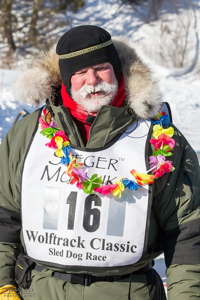 Bob Johnson at the finish of the 2015 WolfTrack Classic