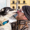 Mark Luttinen and dog team during the vet check of the 2015 WolfTrack Classic