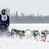 Dusty Klaven's winning 8-dog team crossing Bear Head Lake during the 2015 WolfTrack Classic