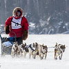 Frank Moe's 8-dog team crossing Bear Head Lake during the 2015 WolfTrack Classic