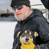 Scott Olson's and dog during vet check at the 2015 WolfTrack Classic
