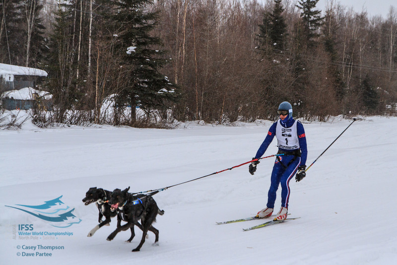 Chuck Pratt (USA) - 2013 IFSS Men 2-Dog Skijor Day 1