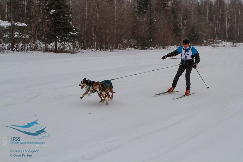 Philip Friedlander (Australia) - 2013 IFSS Men 2-Dog Skijor Day 1