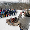 Jonathan Tressler - The News-Herald. Tony Salajcik snaps a quick pic with his smartphone Dec. 14 at Riverview Park in Madison Township before all the kids he brought to the park for their first snow day of the season cruise down the park's south-facing sledding hill as an 11-rider train. Pictured, from back row left, are Zack Darrough, Mimi Gasi, Liam Podpadec and Anna Salajcik. From left in front are Lysssa and Lexi Wheeler, Abby and Salajcik, Rami Gasi, Rocco Salajcik and Adem Gasi.
