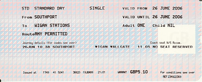 1Wigan ticket