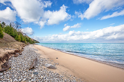 Lake Michigan beach: Northport, Michigan