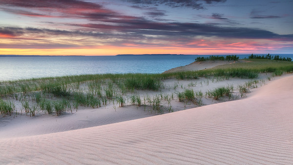Sleeping Bear Dunes Pastel Sunset