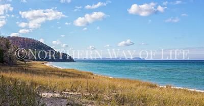 Van's beach in Autumn: Leland, Michigan