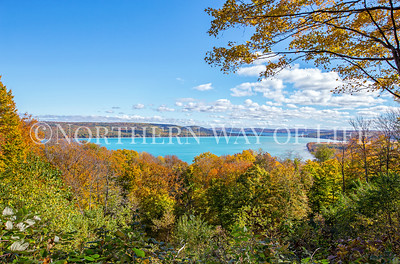 Glen Lake from the #2 overlook on the Pierce Stocking Scenic Drive: Empire, MI