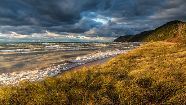 Esch Beach Stormy Sunset